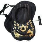 Rosewood Lyre Harp 10 Strings Black Gold