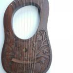 Rosewood-Lyre-Harp-10-Strings-Detailed