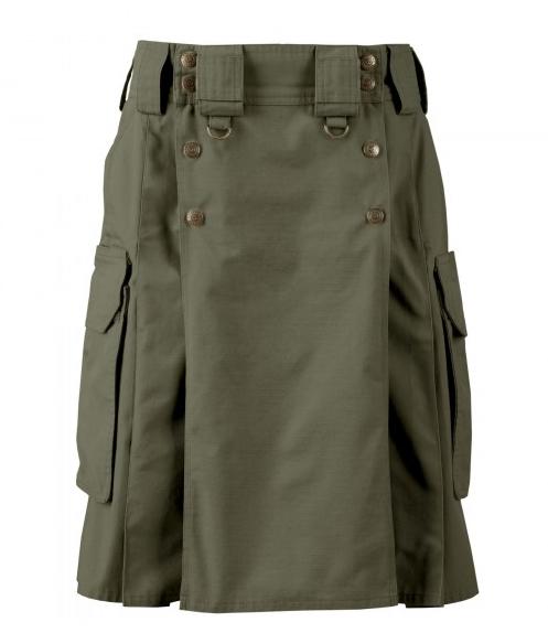Tactical kilt, Dark Green tactical kilt, Tactical kilt by kilt and Jacks