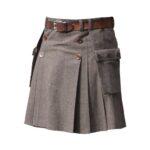 Wool-buttoned-kilt-brown