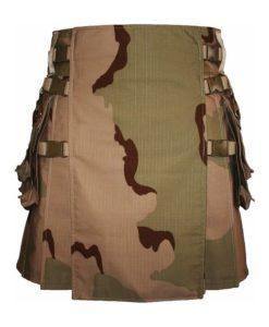 desert camo kilt, hiker kilt, hiking kilt, Camouflage kilt