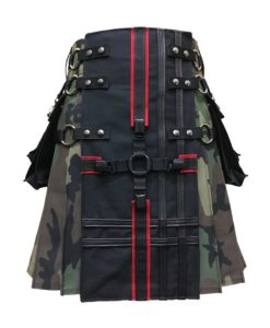 gothic kilt, interchangeable kilt, camo kilt, kilt for men