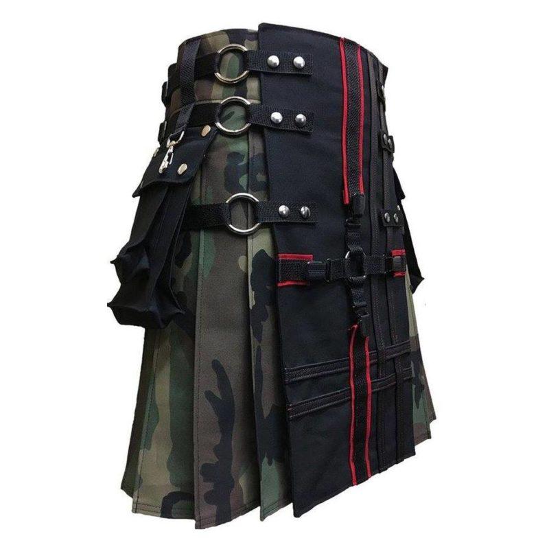 gothic kilt, interchangeable kilt, camo kilt, kilt for men