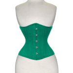 Double-Steel-Boned-Underbust-Cotton-Corset-Green