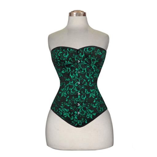 brocade corset, brocade cotton corset, brocade overbust corset, cotton corset, cotton overbust corset.