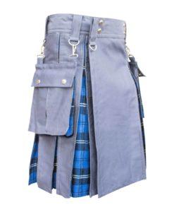 hybrid kilt, utility kilt, hybrid utility kilt, tartan utility kilt,