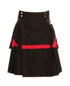 black utility kilt, diagonal utility kilt, black diamond utility kilt, mens utility kilt