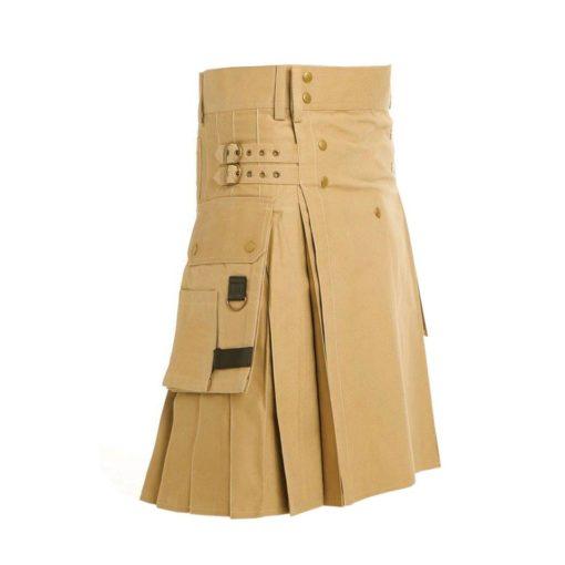 signature kilt, signature utility kilt, decent utility kilt, khaki utility kilt, utility kilt for men