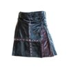 steampunk kilt, kilt for men, leather kilt, leather kilts, cross leather kilt