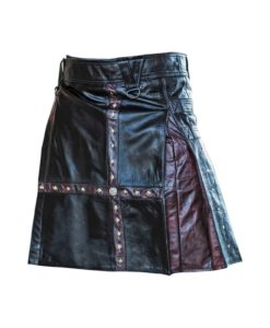 steampunk kilt, kilt for men, leather kilt, leather kilts, cross leather kilt