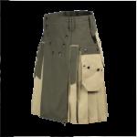 Two-Toned-Workman-Utility-Kilt-green-beige