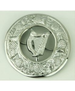 Irish harp brooch, irish brooch for sale, Fly plaid brooch