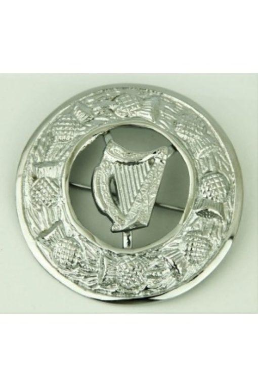 Irish harp brooch, irish brooch for sale, Fly plaid brooch