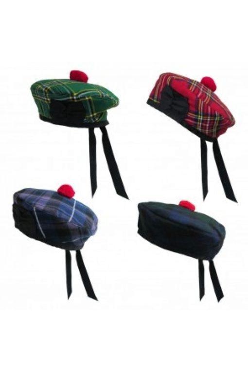 balmoral hats, Caps, Tartan balmoral hats