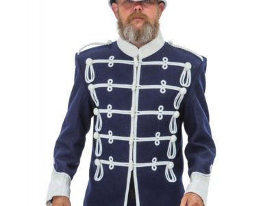 Patrol war jacket, mens jacket, military jacket, braided white jacket
