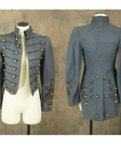 grey tailcoat, military tailcoat, mens military coats, custom military tailcoat