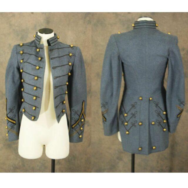 grey tailcoat, military tailcoat, mens military coats, custom military tailcoat