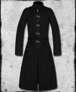 Black steampunk coat, black coat, gothic coat, gothic steampunk coat, black steampunk gothic coat