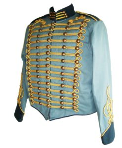 blue steampunk military jacket, military jacket, parade jacket, military parade jacket, blue parade jacket