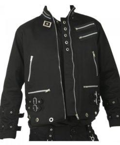 bondage jacket, gothic jacket, heavy duty gothic jacket, mens gothic jacket
