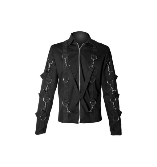 Custody carry denim gothic jacket, gothic jacket, custody carry denim jacket