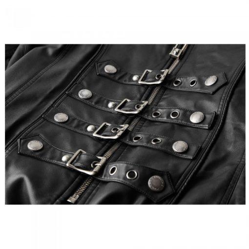 long gothic coat, leather gothic coat, leather goth coat, leather steampunk coat