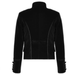 Embroidered-Single-breasted-Gothic-Velvet-Jacket-black-back