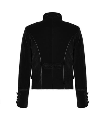 Embroidered Single Breasted Gothic velvet jacket which is designed and made for you specially. It has button closure and looks very dope. This velvet gothic jacket comes in black color. This is the back side of this jacket.