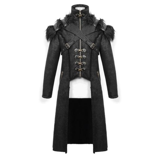 Numinous Gothic Fur Coat is made from premium quality fur and leather. It comes with a vest. It is one of the best gothic coats from Kilt and Jacks.
