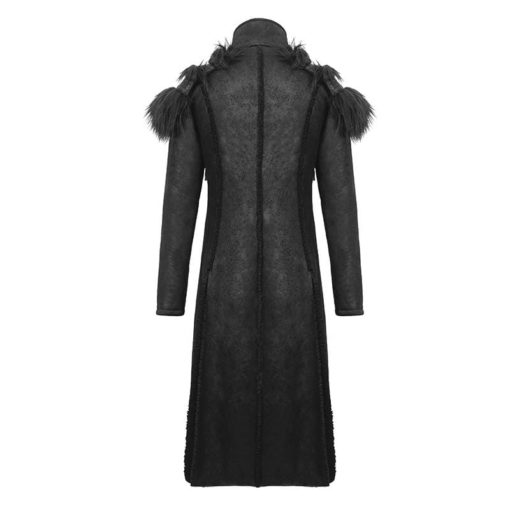 Numinous Gothic Fur Coat is made from premium quality fur and leather. It comes with a vest. It is one of the best gothic coats from Kilt and Jacks. It is the back side of the coat.