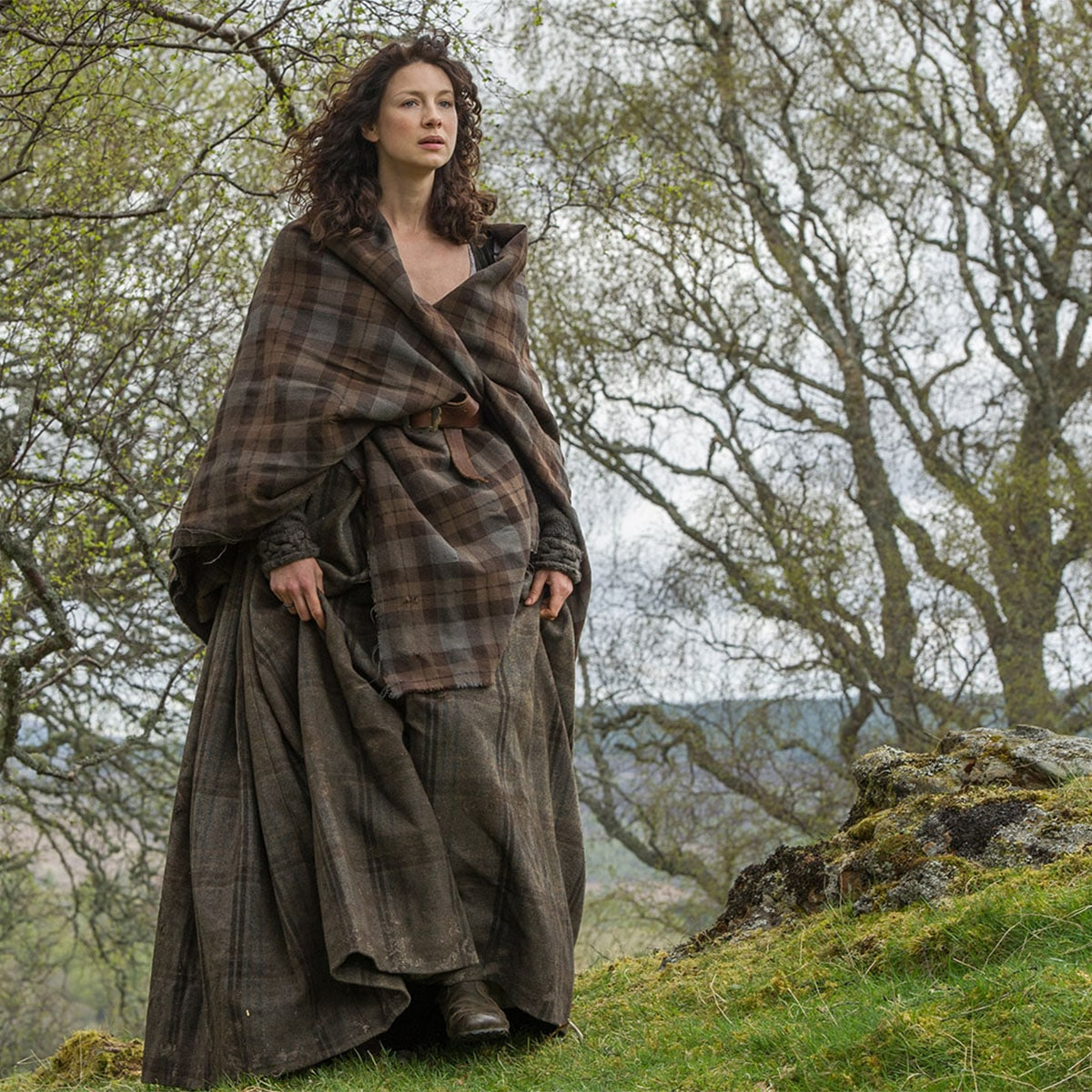 This is the claire outlander earsaid which is made up of tartan.