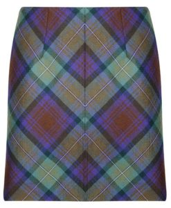 Tartan Mini skirt made up of tartan designed for women.