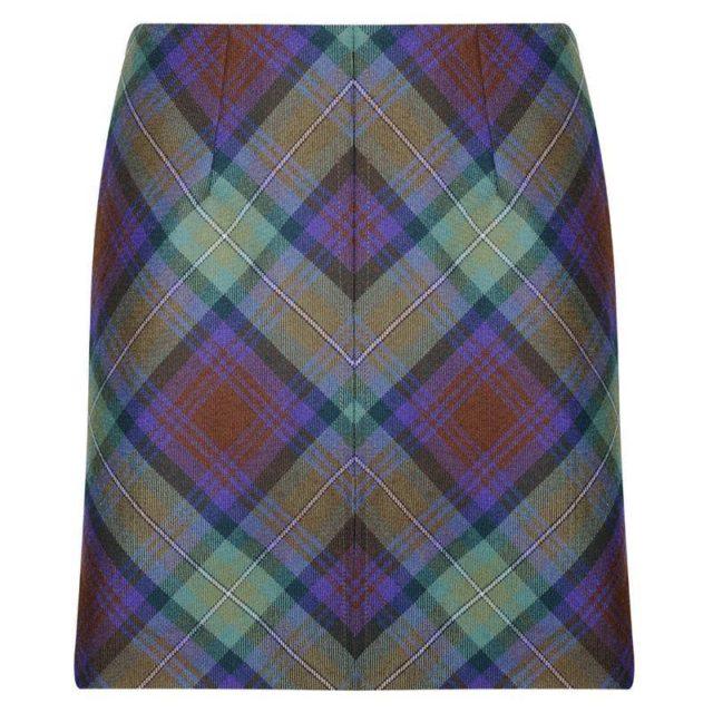 Tartan Mini skirt made up of tartan designed for women.