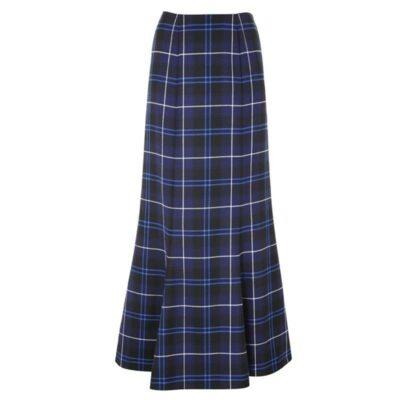Tartan Fluted Long skirt is designed for women who loves taratn.