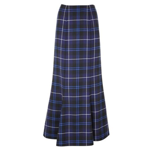 Tartan Fluted Long skirt is designed for women who loves taratn.