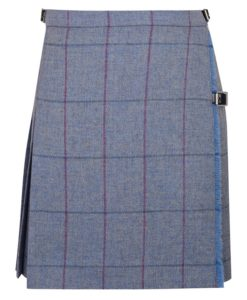 Tweed Mini Kilt with stripes for women.