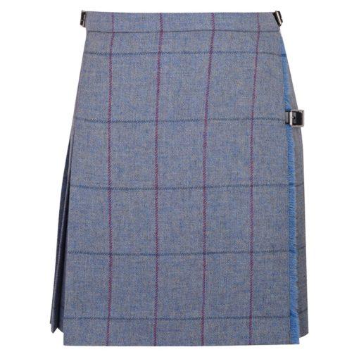 Tweed Mini Kilt with stripes for women.