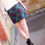 Tartan-Mini-Skirt-Back-close