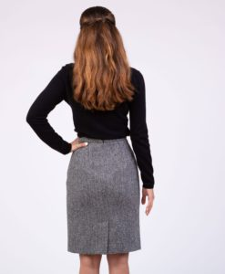 Harris Tweed Long Skirt for Women made up of genuine Harris tweed.