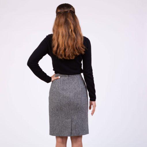 Harris Tweed Long Skirt for Women made up of genuine Harris tweed.