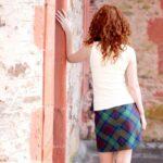 Tartan-Mini-Skirt-Back