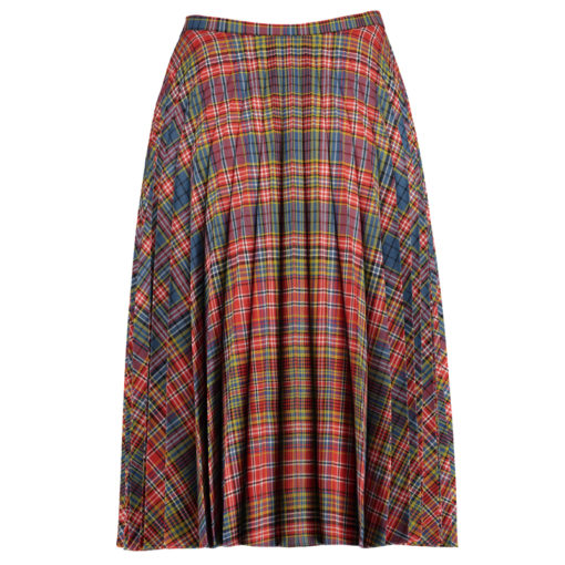 Fiona Tartan Pleated Skirt designed for women to wear on casual occasion.