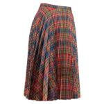 Fiona-Tartan-Pleated-Skirt-Model