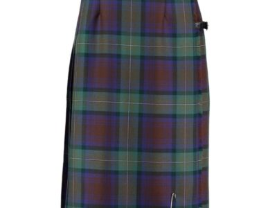 Freedom Tartan kilted skirt which is exclusively made to measure for women.