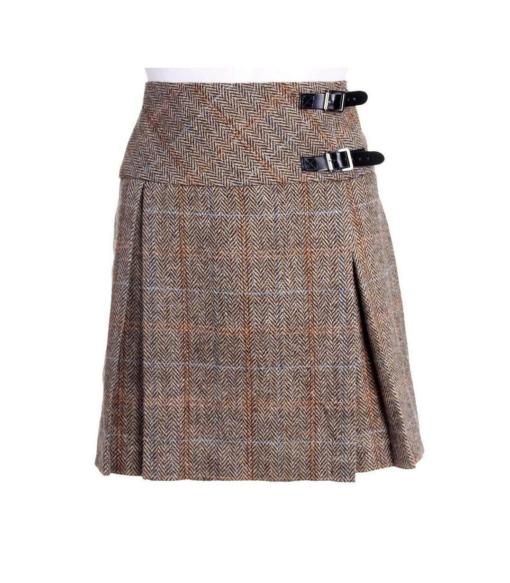 Harris Tweed Billie-Style Kilt for Women.