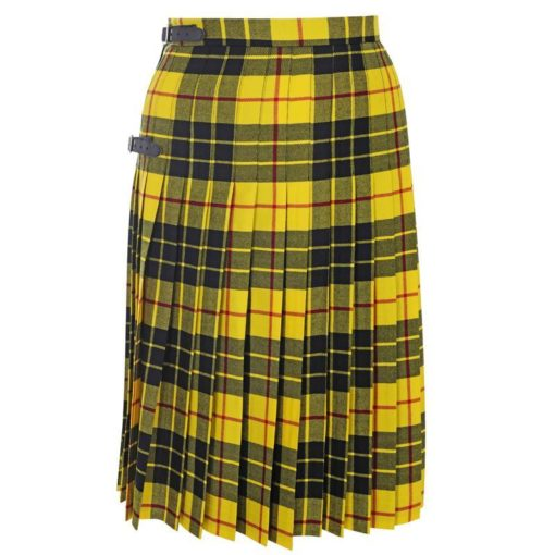 Macleod of Lewis tartan kilted skirts which is made to measure for women.