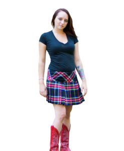 Billie style Tartan Kilted Mini Skirt for Women.