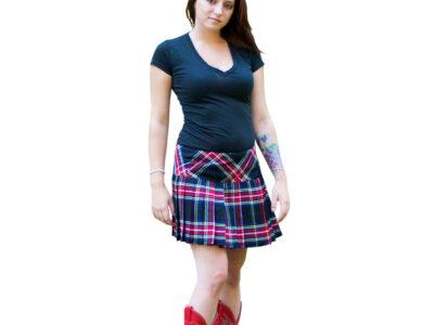 Billie style Tartan Kilted Mini Skirt for Women.