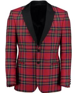 Tartan Dinner Jacket for men which is custom made.