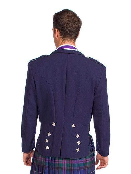 Navy Blue Prince Charlie Jacket with 5 buttons vest